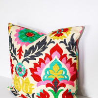 Beautiful Santa Maria Desert Flower Throw Pillow Cover