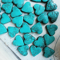 7 clrs rustic wedding favors heart magnets cottage chic guest favors shabby chic bridal shower turquoise brown woodland