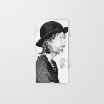 Thom Yorke Watercolor portrait by MrNobody Hand & Bath Towel by mrnobody