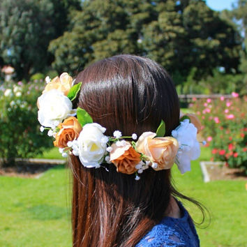 Flower Crowns, Flower Headband, Rose Crowns, Floral Accessories, Coachella Headbands, Floral Crowns, Coachella Festival Hair Accessories