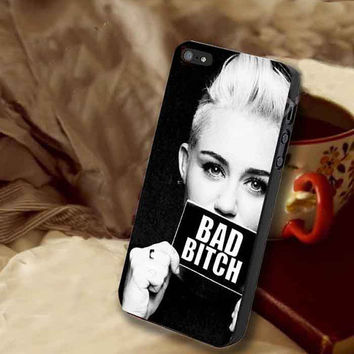miley cyrus bad bitch customized for iphone 4/4s/5/5s/5c, samsung galaxy s3/s4/s5 and ipod 4/5 case