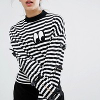 Lazy Oaf Bow Tie Long Sleeve T-shirt at asos.com