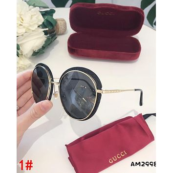 GUCCI Popular Woman Casual Summer Sun Shades Eyeglasses Glasses Sunglasses 1#