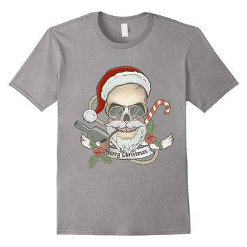 Scary Holiday Skull Santa t-shirt