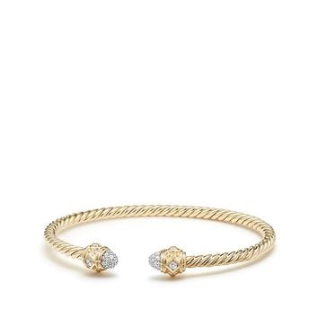 Renaissance Bracelet with Diamonds in 18K Gold, 3mm