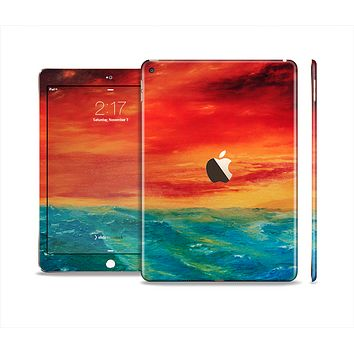 The Abstract Sunset Painting Skin Set for the Apple iPad Air 2