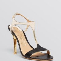 Salvatore Ferragamo Open Toe Sandals - Monroe High Heel