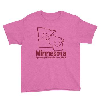 Minnesota Spooning Wisconsin Youth T-Shirt