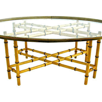 Faux-Bamboo  Coffee Table