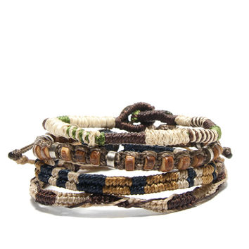 Earth Bracelets, set of 4