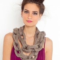 Chain Link Scarf - Taupe