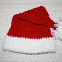 Infant Santa Hat NB, 0-3 mo or 3-6 mo 6-12 Mo  Baby Shower Gift, Infant, Perfect Photo Prop
