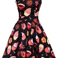Buy Black Tea Cups & Cupcakes Tea Dress