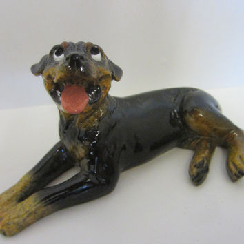 Roscoe Kittys Kennel Hand Decorated Ceramic Dog Figurine