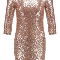 TFNC PARIS SQUARE - Cocktail dress / Party dress - rose gold - Zalando.co.uk