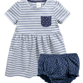 Jersey Dress and Puff Pants - from H&M