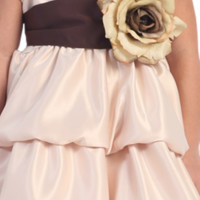 Satin Sash with Flower Pin by Blossom in 16 Color Choices for Girls Dresses