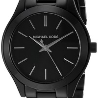 Michael Kors Women's Mini Slim Runway Black Watch MK3587