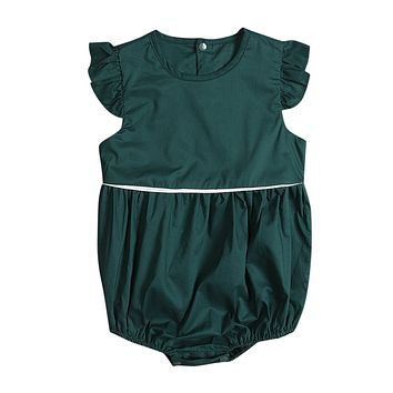 Summer Newborn Infant Baby Girl Butterfly sleeves Romper Jumpsuit Outfits Sun-suit Clothes 0-2T