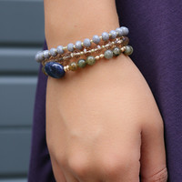 Dusky Valley Natural Stone & Bead Bracelet Set