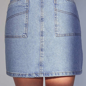 BDG Utility A-Line Denim Mini Skirt | Urban Outfitters