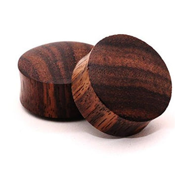 Pair of Sono Wood Plugs - 0g - 8mm - Sold As a Pair