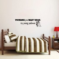 Housewares Vinyl Decal Patience You Must Have Star Wars Quote Home Wall Art Decor Removable Stylish Sticker Mural Unique Design for Any Room Nursery Bedroom Dorm Decals