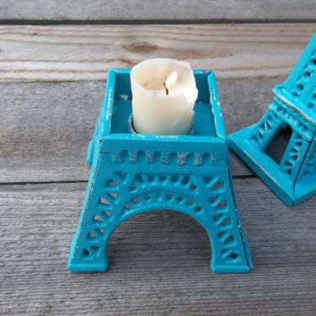 Eiffel Tower - Large - Candle Holder - French Inspired - Paris Romantic - Outdoor Party Decor - Home Decor