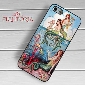 Vintage Mermaids -swdh for iPhone 6S case, iPhone 5s case, iPhone 6 case, iPhone 4S, Samsung S6 Edge