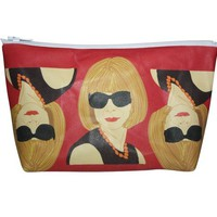 Anna Wintour Pop Zipper Pouch and Makeup Bag – Illustrated and Handmade in the USA