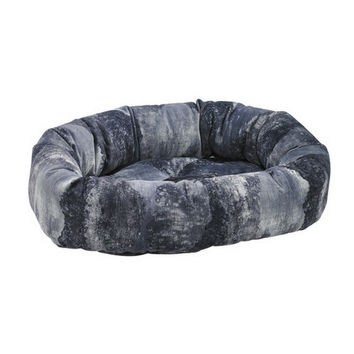 MicroVelvet Donut Bolstered Dog Bed — Nightfall