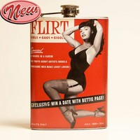 Bettie Page Flirt Drinking Flask