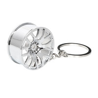 Car Wheel Rim Model Fashion Auto Accessories Key Chain Keychain  Metal Decors Key Ring Keyring High Quality Wheel Hub