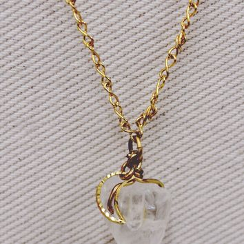Little Luna Aura Quartz Necklace — More Colors