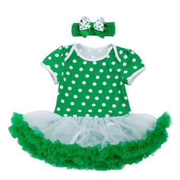 Baby Girls St. Patrick's Day Headband and Dress