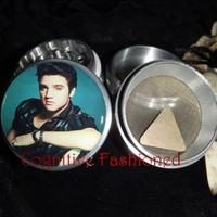 Elvis Presley 4 Piece Grinder Herb Spice Aircraft Grade Aluminum CNC from Cognitive Fashioned