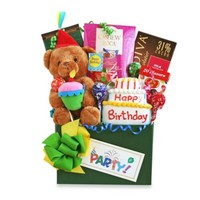 Holiday Birthday Party Bear Gift Basket