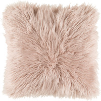 Surya Kharaa Throw Pillow Pink Fur
