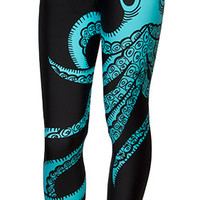 Octopus Leggings - Black,