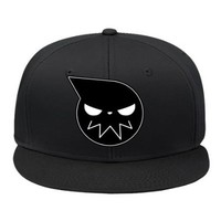 Male/female Soul Eater Anime Blue Hip Hop Cap Hat Adjustable Snapback Cotton