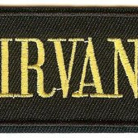 Nirvana Iron-On Patch Rectangle Smiley Faces Strip Logo