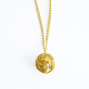 Tiny ball gold necklace, minimalist necklace