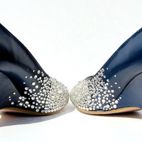Crystal Wedges with Flamingos