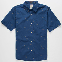 Volcom Weirdoh Boys Shirt Navy Combo  In Sizes