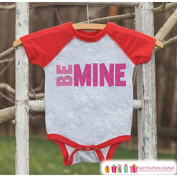 Kids Valentines Outfit - Be Mine Valentine's Day Shirt or Onepiece - Valentine Shirt for Boy or Girl - Baby Toddler Youth Valentines Day Top