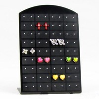 Jewelry Holders 36 Holes earrings Plastic Display Organizer Showcase