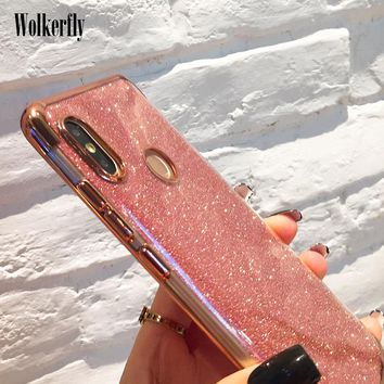 Luxury Bling Glitter Case for Huawei Nova 3 P20 Mate 10 Lite P10 Plus Y5 Y9 Y6 Prime 2018 Honor play Soft Plating TPU On Cover