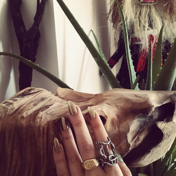 Draumstafir Ring, Handmade Icelandic silver sigil jewelry to dream of unfulfilled desires, magical stave ring, galdrastafur