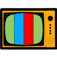 This Is A Patch! Vintage Style Retro TV Television Made From PVC/Rubber/Silicon & Sewing Channel 8cm