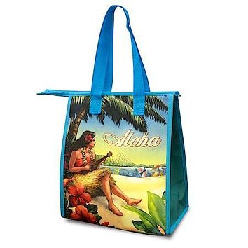 Vintage Hawaii Small Insulated Lunch Bag